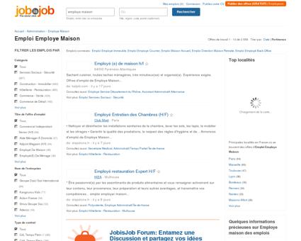 Emploi Employe Maison - JobisJob France -...