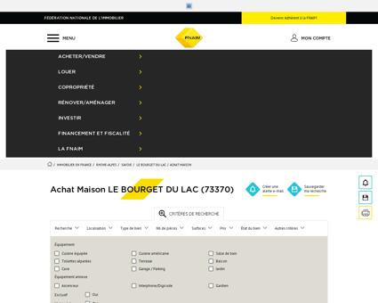 Achat Maison LE BOURGET DU LAC (73370) -...