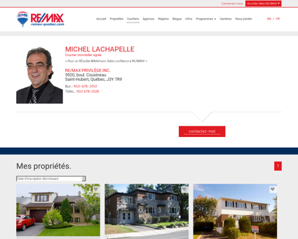 MICHEL LACHAPELLE de RE/MAX PRIVILÈGE...