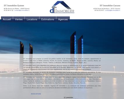 DT Immobilier, l'immobilier à Eysines, Carcans,...