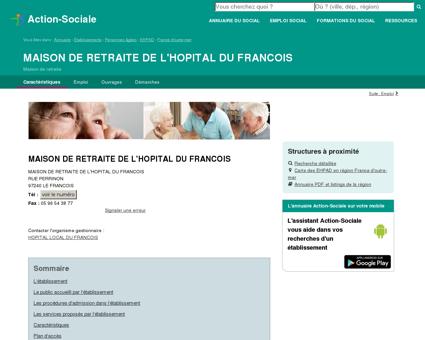 LE FRANCOIS : MAISON DE RETRAITE DE...