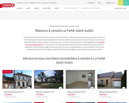 Achat - Vente Maison à La ferte st aubin - Orpi...