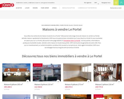 Achat - Vente Maison à Le portel - Orpi...