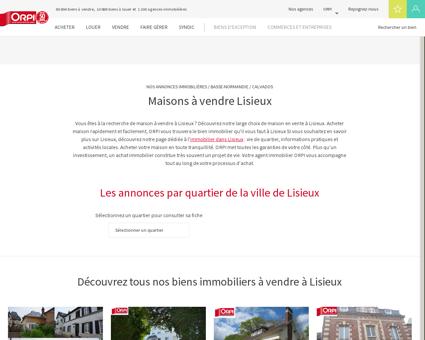 Achat - Vente Maison à Lisieux - Orpi immobilier