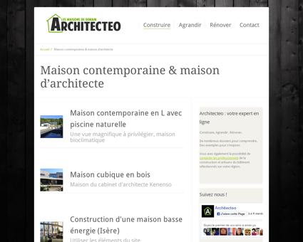Maison contemporaine & maison d'architecte