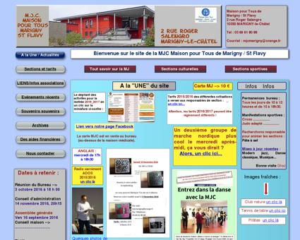 Site MJC Maison pour tous Marigny le Châtel...