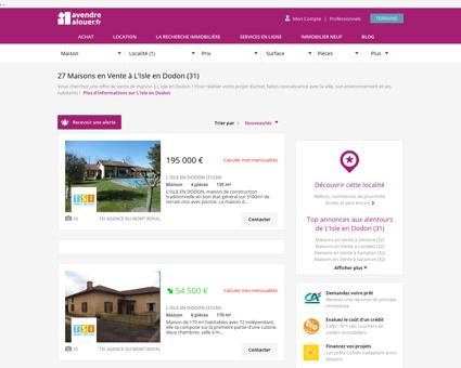 Vente Maison L'Isle en Dodon (31) | Acheter...