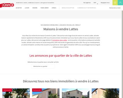 Achat - Vente Maison à Lattes - Orpi immobilier