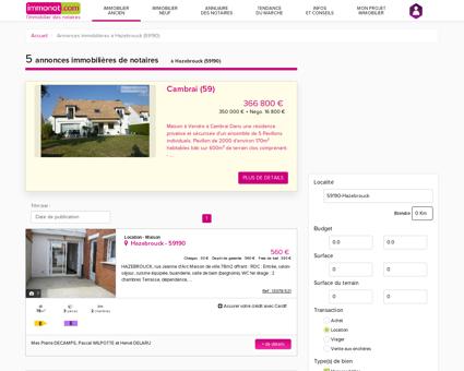 Location Maison Hazebrouck (59190) Nord (59)