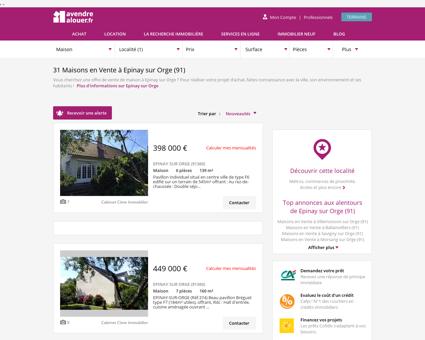 Vente Maison Epinay sur Orge (91) | Acheter...