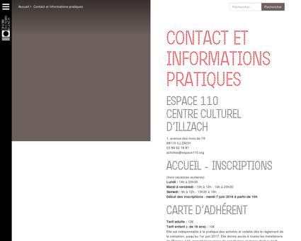 Espace110 :: Informations Pratiques