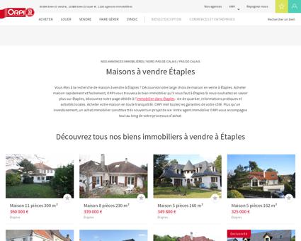 Achat - Vente Maison à Etaples - Orpi immobilier