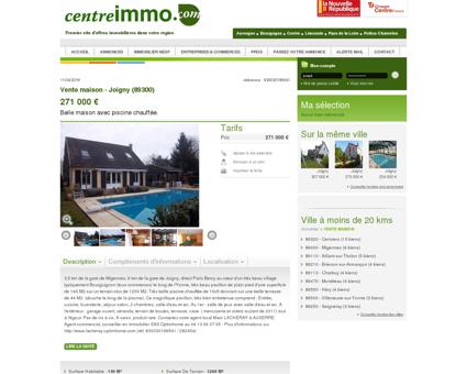 Annonce : Vente maison - Joigny (89300) -...