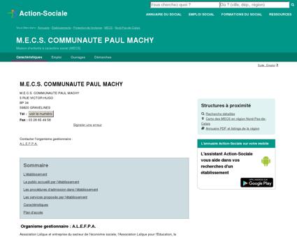 GRAVELINES : M.E.C.S. COMMUNAUTE PAUL...
