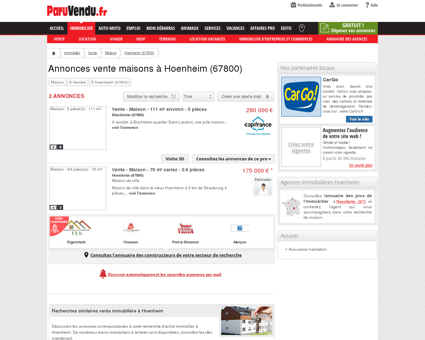 Vente maison à Hoenheim (67800) : annonces...