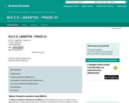 BORDEAUX : M.E.C.S. LABARTHE - PRADO 33 -...