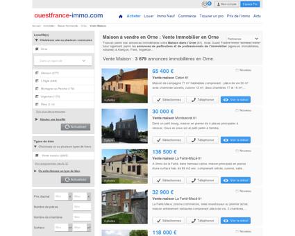 Maison a vendre Orne (61) : OuestFranceImmo
