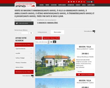 4 annonces de ventes de maisons situées à...