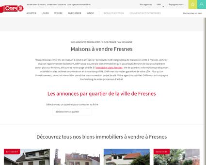 Achat - Vente Maison à Fresnes - Orpi...