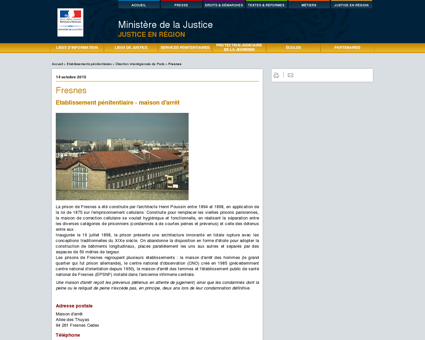 Justice / Annuaires et contacts / Fresnes