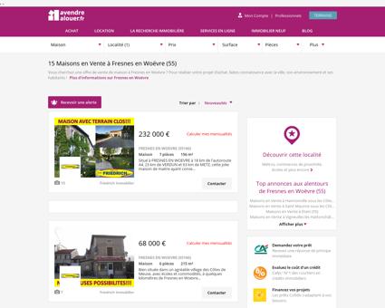 Vente Maison Fresnes en Woëvre (55) |...