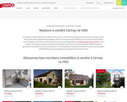 Achat - Vente Maison à Cernay la ville - Orpi...