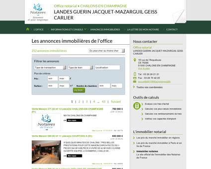 Annonce immobilier notaire - CHALONS EN...