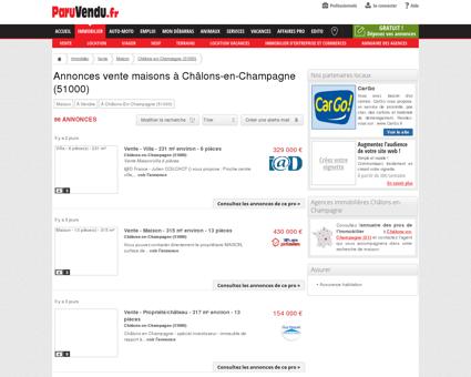 Vente maison à Châlons-en-Champagne...