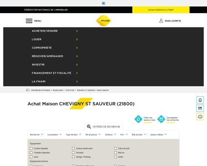Achat Maison CHEVIGNY ST SAUVEUR (21800)...