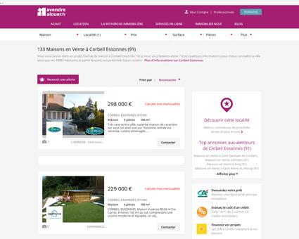 Vente Maison Corbeil Essonnes (91)   Acheter...