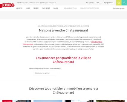 Achat - Vente Maison à Chateaurenard - Orpi...