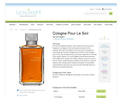Cologne pour le Soir Eau de Cologne by Maison Francis ...