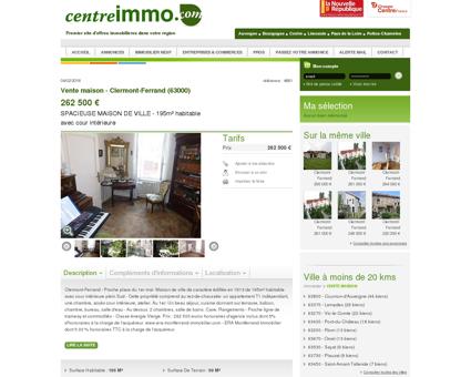 Annonce : Vente maison - Clermont-Ferrand...