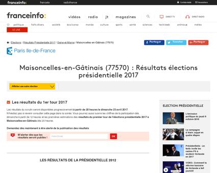 Maisoncelles-en-Gâtinais : Résultats des...