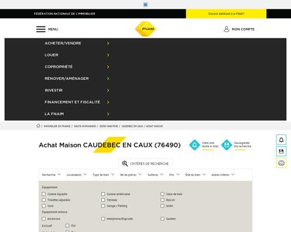 Achat Maison CAUDEBEC EN CAUX (76490) -...
