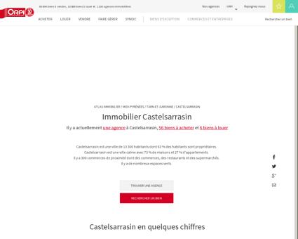 Immobilier Castelsarrasin - Biens immobiliers...