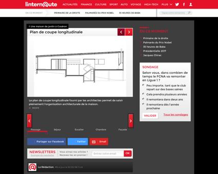 Plan de coupe longitudinale : Une maison de...