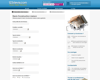 Coût Construction Maison | 123devis.com