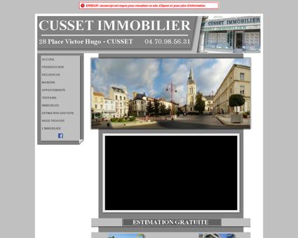 IMMOBILIER VICHY CUSSET BELLERIVE SUR...