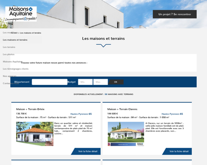 Maisons et terrains à l'achat sur Maisons...