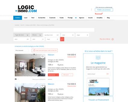 Maison à vendre Aubigny au Bac 59265, vente...