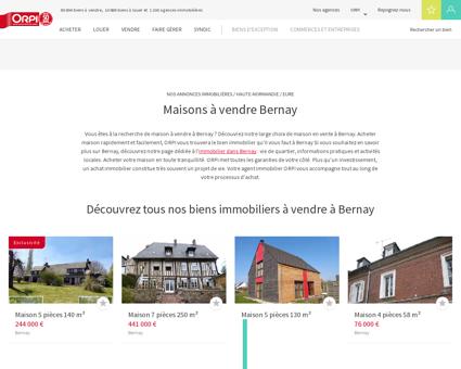 Achat - Vente Maison à Bernay - Orpi immobilier
