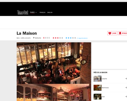 La Maison | Bars à Belleville, Paris