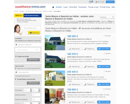 Maison a vendre a Beaufort-en-Vallée (49250 ...
