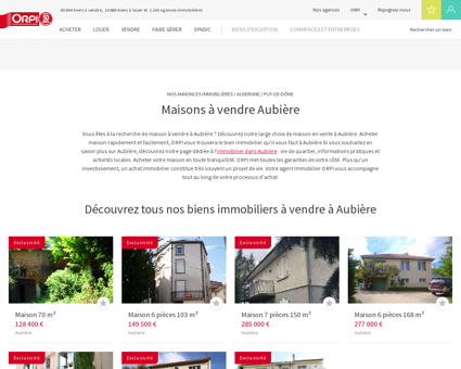 Achat - Vente Maison à Aubiere - Orpi...