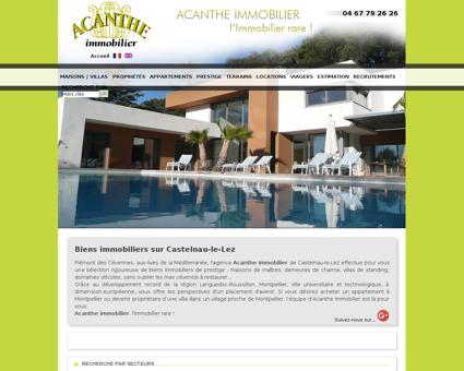 Acanthe immobilier à Castelnau le lez -...
