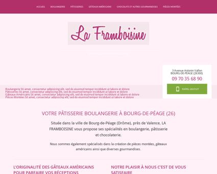 Patisserie Bourg de Péage - LA FRAMBOISINE :...