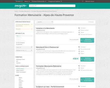 Formation Menuiserie Alpes-de-Haute...