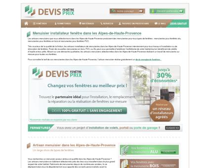 Menuiserie fenetre Alpes-de-Haute-Provence...