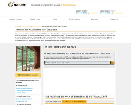 Menuisier bois PACA Provence-Alpes-Côte...
